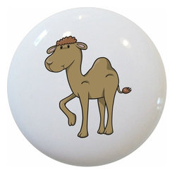 Carolina Hardware and Decor, LLC - Baby Camel Ceramic Knob - 1 1/2 inch white ceramic knob with one inch mounting hardware included.  Great as a cabinet, drawer, or furniture knob.  Adds a nice finishing touch to any room!