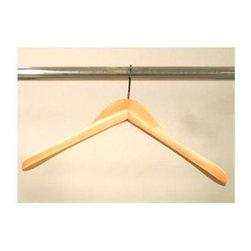 Proman Products - Cedar Contoured Coat Hanger w Wide Shoulder - Set of 12. Natural finish