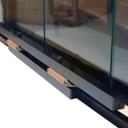 Safety Innovations - Fireplace Door Guard for Child Safety - To enjoy your fireplace with confidence, install this sturdy metal door guard. It keeps little fingers safe and gives grownups easy access.