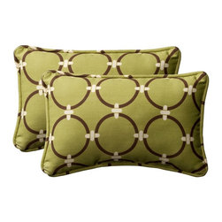 Pillow Perfect - Pillow Perfect 11.5L x 18.5W x 5H in. Rectangle Outdoor Toss Pillow - Set of 2 - - Shop for Pillows from Hayneedle.com! Add some style to your outdoor furniture with the decorative Outdoor Toss Pillow Rectangle - 11.5L x 18.5W x 5H in. - Set of 2. Featuring a polyester material in a wide variety of colors and patterns these 5-inch-thick pillows offer comfy stylish support. The rectangular toss pillows are lined with thick welted seams. Dimensions: 11.5L x 18.5W x 5H inches.These cushions are designed for outdoor use but in order to prolong the life of the cushion we recommend that you bring it in or protect it from the elements when not in use. All fabrics are treated to resist mildew. However mildew is created by the presence of dirt combined with the prolonged exposure to moisture without proper drying. A regular cleaning program consisting of hosing down the cushions and allowing to completely dry in open air and sunlight will enhance the appearance and life of the cushions. Spot clean stains with a mild detergent and water solution.