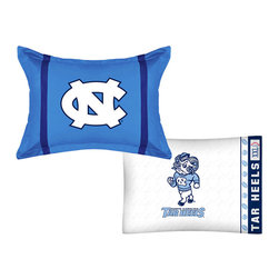 Store51 LLC - NCAA North Carolina Tar Heels MVP Pillow Sham Pillowcase Set - FEATURES: