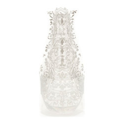Modgy - Myvaz Expandable Flower Vase ChiChi Siliver - Myvaz expandable flower vases do everything a glass vase does except collect dust, chip or break. Available in a variety of designs, myvaz expandable vases are durable and stable enough to hold a flower bouquet. These decorative vases expand with water and are ideal for events, weddings, and any table top. myvaz plastic vases are collapsible and economical, making it easy to keep a variety of colors and patterns tucked away for any occasion.