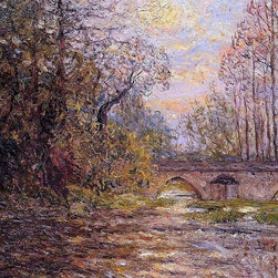 """Maxime Maufra Sunset on the Loir, Lavardin (also known as Loir-et-Cher) - 16"""" x - 16"""" x 24"""" Maxime Maufra Sunset on the Loir, Lavardin (also known as Loir-et-Cher) premium archival print reproduced to meet museum quality standards. Our museum quality archival prints are produced using high-precision print technology for a more accurate reproduction printed on high quality, heavyweight matte presentation paper with fade-resistant, archival inks. Our progressive business model allows us to offer works of art to you at the best wholesale pricing, significantly less than art gallery prices, affordable to all. This line of artwork is produced with extra white border space (if you choose to have it framed, for your framer to work with to frame properly or utilize a larger mat and/or frame).  We present a comprehensive collection of exceptional art reproductions byMaxime Maufra."""