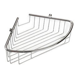 StilHaus - Wall Mounted Corner Wire Soap Dish - Made from chrome finished brass, this wire soap dish mounts to the corner of your bath wall.