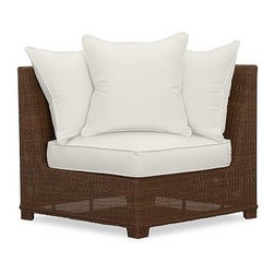 Palmetto All-Weather Wicker Corner Chair Cushion Slipcover, Natural - Crafted from Sunbrella(R) fabric or water-repellent, ring-spun polyester, our cushion slipcovers are the perfect match for the strength and durability of our outdoor collections. Click to read an article on {{link path='pages/popups/palmetto-care_popup.html' class='popup' width='640' height='700'}}recommended care{{/link}}. Water-repellent, ring-spun polyester, or Sunbrella(R) fabric slipcovers for Palmetto cushions. Sunbrella(R) fabric is specially designed to resist fading, mildew, chlorine and stains. Machine wash slipcover. Sunbrella(R) cushions and slipcovers are special order items which receive delivery in 3-4 weeks. Please click on the shipping tab for shipping and return information. Catalog / Internet only. Imported. View our {{link path='pages/popups/fb-outdoor.html' class='popup' width='480' height='300'}}Furniture Brochure{{/link}}.