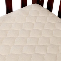 "American Baby Organic Quilted Mini Mattress Pad Cover - Crib - A comfortable mattress pad is a sound idea for kids of all sizes and the American Baby Company Organic Quilted Mini Crib Mattress Pad Cover is the perfect way to start. With an onion quilt of 100% organic cotton on one side and breathable waterproof polyester filled with soft polyester filler your new crib bedding will seem that much more comfortable when it has this mattress pad underneath. About American Baby CompanyAmerican Baby Company Inc. is a leading U.S. manufacturer of baby bedding that emphasizes high-quality comfort and safety. They are a leader in the industry at providing fast delivery of premium-quality products at reasonable prices. American Baby Company's bedding line coordinates with all types of nursery settings and their solid color collection is updated annually to provide the latest """"in trend"""" colors. American Baby Company has been an innovator of products that meet the safety needs of their customers. Their safety crib sheet which has been featured in leading baby and mothering magazines is an example of this focus."