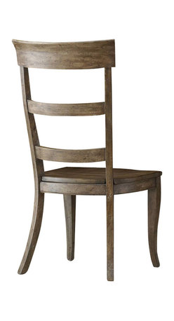 "Hooker Furniture - Sorella Ladderback Chair - Set of 2 - Side - White glove, in-home delivery included!  There are many comfortable ways to spend quality time with family and friends.  We invite you to make the Sorella collection part of your home.  When you add their ingredients of style, grace and comfort you are in for a true experience.  Arm height: 24 1/2"" h  Seat height: 17 7/8"" h"