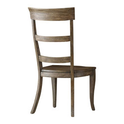 """Hooker Furniture - Sorella Ladderback Chair - Set of 2 - Side - White glove, in-home delivery included!  There are many comfortable ways to spend quality time with family and friends.  We invite you to make the Sorella collection part of your home.  When you add their ingredients of style, grace and comfort you are in for a true experience.  Arm height: 24 1/2"""" h  Seat height: 17 7/8"""" h"""