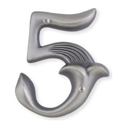 Atlas - Alhambra House Number 5 - AN5-P (Aged Bronze) - Color: Aged BronzeManufacturer SKU: AN5-P. Projection: 0.5 in.. Made from metal. 4 in. L x 2.5 in. W