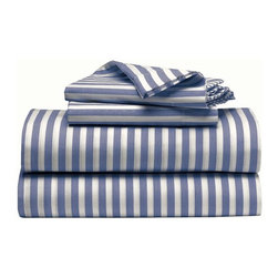Stripe Sheet Set - Even though they're easy to hide, a new set of sheets can make your bed a place of pure rest and relaxation for you.