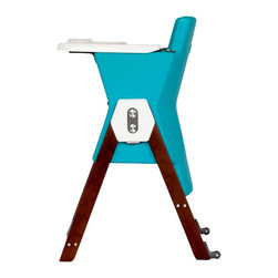 Hilo - HiLo Highchair by Patrice Guillemin, Blueberry / Espresso - Meet the brand new HiLo kids chair! A colorful, dual-height kids' chair that combines contemporary design with simplicity and functionality. Designed by AGE Design, creator of modern, intelligently designed children's products. The chair serves parental aesthetics for modern interiors, while keeping toddlers well seated from 6 months to 5 years.