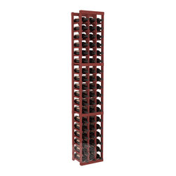 3 Column Standard Cellar Kit in Pine with Cherry Stain - Each wine cellar rack meets Wine Racks America's unparalleled fabrication standards. Modular engineering provides universal kit compatibility which enables connoisseurs to mix and match wine rack kits until you achieve a personally-defined wine bottle storage system.