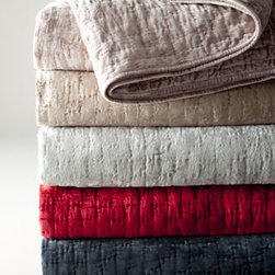 Pine Cone Hill - Pine Cone Hill Matte Velvet European Sham - Quilts and shams of matte velvet come in an array of colors to complement a myriad of bed ensembles. Select color when ordering. By Pine Cone Hill®. Hand-quilted viscose/cotton velvet. Batting and backing are cotton. Machine wash. Imported.