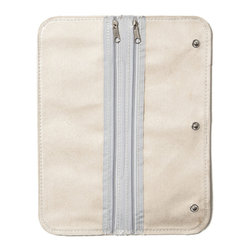 Clos-ette Too - Signature Travel Jewelry Case 0.89 lb, Ivory by Clos-ette Too - Three double-sided pages double the storage space of your Travel Jewelry Case, or can also be used on their own for jewelry organization. Like the original pages, these are lined in ultra-suede, covered in plastic (ensuring your favorite pieces never get tangled), and feature special compartments for all types of jewelry. Easily snaps into our Travel Jewelry Case's existing pages.