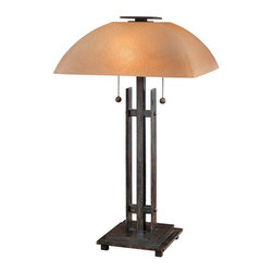 Minka-Lavery - Minka-Lavery Lineage 2-Light Table Lamp - 10352-357 - This 2-Light Table Lamp has a Bronze finish and is part of the Lineage collection.