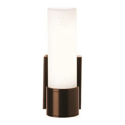 Access Lighting - Access Lighting Nyz Modern / Contemporary Outdoor Wall Sconce X-LPO/ZRB-GM76302 - Experience the simplicity, delicate appeal, soothing comfort, and wicked cool attitude of this contemporary wall pendant. The opal glass shade provides a soft and friendly glow for your living room, kitchen, dining room, bedroom, lounge, den, or apartment. The finish is highly durable and made to please so you can always enjoy the friendly glow.