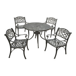 "Crosley - Sedona 42"" Five-Piece Cast Aluminum Outdoor Dining Set - Nostalgically inspired Griffith metal outdoor furniture. Kick back while you reminisce in this seating set, designed to withstand the hottest of summer days and other harsh conditions. The furniture's non-toxic, powder-coated finish is available in various colors to complement your outdoor accessories."