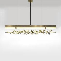 Ridgely Studio Works - Ridgely Studio Works | Level Criss Cross LED Linear Pendant Light - Design by Zac Ridgely, 2014.