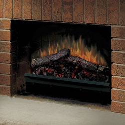 Dimplex - Dimplex 23 in. Deluxe LED Electric Fireplace Insert Multicolor - DFI23106A - Shop for Fire Places Wood Stoves and Hardware from Hayneedle.com! The Dimplex 23 in. Deluxe LED Electric Fireplace Insert is a simple and efficient way to get use out of an old neglected or idle fireplace. It installs easily into most existing masonry or steel-lined fireplaces and generates a realistic warm glow with pulsating embers and LED inner-glow logs. It features three heat settings including flame-only half heat and full heat options to ensure your comfort and year-round enjoyment. A convenient remote control allows you to adjust the unit from anywhere in the room. The Dimplex 23 in. Deluxe Electric Fireplace Insert requires no piping or venting and operates on pennies per day. All you have to do is plug it into a standard household outlet and you'll experience beautiful dancing flames cheerful ambience and an efficient heat source. The quality of this Dimplex electric fireplace insert is backed by a one-year limited manufacturer's warranty. The Dimplex Advantage Instant ambianceRealistic leading-edge flame technology provides instant ambiance and the romance of a wood fire. Instant heatFan-forced heat quietly provides over 4 000 BTU/hr of instant soothing warmth. Optional heatOperates with or without heat for year-round comfort at the push of a button. No venting requiredThis electric fireplace can be installed anywhere including below grade and inside walls. Safe for kids and petsRemains safe to touch whether heater is operating or off. Just plug it inSimply plug into any standard household electrical (120-volt) outlet switch on and enjoy. No moisture problemsSafe electric operation does not contribute to the concerns that come with some. About DimplexDimplex North America Limited is the world leader in electric heating offering a wide range of residential commercial and industrial products. The company's commitment to innovation has fostered outstanding product development and design excellence. Recent innovations include the patented electric flame technology - the company made history in the fireplace industry when it developed and produced the first electric fireplace with a truly realistic wood burning flame effect in 1995. The company has since been granted 87 patents covering various areas of electric flame technology and 37 more are pending. Dimplex is a green choice because its products do not produce carbon monoxide or emissions.