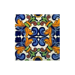 Handpainted Ceramic Grand Tile Collection - Item TG017