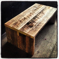 Kerf Reclaimed Barn Board Coffee Table Re Claimed 1 5 Thresher Boards Are Salvaged From
