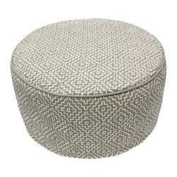 Nuloom - nuLOOM Handmade Casual Living Indian Diamond Taupe Round Pouf - Enhance your decor with this stylish modern pouf made of this soft felt.