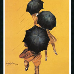 Amanti Art - Parapluie-Revel (ca. 1922) Framed with Gel Coated Finish by Leonetto Cappiello - If you're an urban professional or a fan of French graphic art and rainy days, this ready-to-hang print of umbrella-toting workers hurrying to and fro will appeal to you. This work, created by graphic designer Leonetto Cappiello in the 1920s, is made of a unique, canvas-like material, which is durable and easy to clean. Made in the USA.