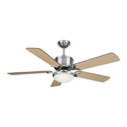 "Cocoweb - Montauk 52"" Ceiling Fan, Brushed Nickel, 52, Montauk, With Light - If youre looking for a way to cool down, add style to your room, and save energy; you need not look any further because our ceiling fans are a great way to cover all of your needs. Our ceiling fans were designed to appeal to a variety of styles ranging from modern to traditional. All of our ceiling fans were designed and manufactured with the utmost quality and precision. Accent your decor while featuring our ceiling fans as your new centerpiece."