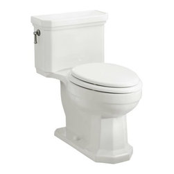 KOHLER - KOHLER K-3324-0 Kathryn Comfort Height One-Piece Elongated Toilet , Less Seat in - KOHLER K-3324-0 Kathryn Comfort Height One-Piece Elongated Toilet , Less Seat in WhiteCarry the timeless sophistication of the Kathryn Suite throughout your bath or powder room with this Kathryn Comfort Height elongated toilet. With its compact, elongated, one-piece design and concealed trapway, this model offers classic elegance and the complete performance of the Ingenium(R) flushing system.Please see our Delivery Notes for Freight Shipments for products that are oversized and/or are too heavy to ship UPS ground. KOHLER K-3324-0 Kathryn Comfort Height One-Piece Elongated Toilet , Less Seat in White, Features:• Classic elegance with an attractive concealed trapway