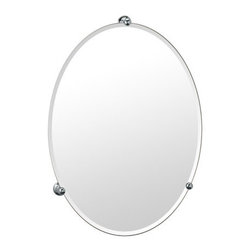 "Gatco - Gatco 1565 Chrome Oldenburg Large Oval Mirror from the Oldenburg - Large Oval Mirror from the Oldenburg Series  Height 26.5"" Width 19.5"" Brass Construction"