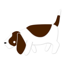 My Wonderful Walls - Basset Hound Dog Stencil for Painting - - 2-piece basset hound stencil