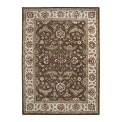 """Surya - Traditional Caesar Sample 1'6""""x1'6"""" Sample Forest-Chocolate  Area Rug - The Caesar area rug Collection offers an affordable assortment of Traditional stylings. Caesar features a blend of natural Red-Ivory  color. Hand Tufted of 100% Wool the Caesar Collection is an intriguing compliment to any decor."""