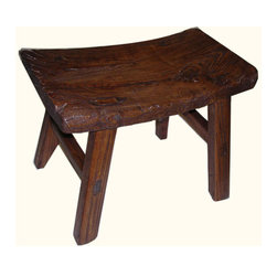 Antique Chinese Stool - This antique Chinese stool is from northern, China and is about 60-80 years old.