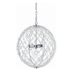 AF Lighting - Af Lighting 8285-3H Horizons Silver Web Pendant - AF Lighting 8285-3H Horizons Silver Web Pendant