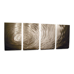Miles Shay - Metal Wall Art Decor Abstract Contemporary Modern Sculpture Hanging- Rippling - This Abstract Metal Wall Art & Sculpture captures the interplay of the highlights and shadows and creates a new three dimensional sense of movement as your view it from different angles.