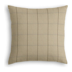 Tan Small Houndstooth Custom Throw Pillow - The every-style accent pillow: this Simple Throw Pillow works in any space.  Perfectly cut to be extra fluffy, you'll not only love admiring it from afar but snuggling up to it too!  We love it in this