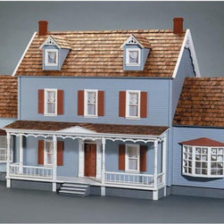 Real Good Toys - Real Good Toys Shelburne Dollhouse Kit - 1 Inch Scale - 1010-MM - Shop for Dollhouses and Dollhouse Furnishings from Hayneedle.com! The Real Good Toys Shelburne Dollhouse Kit - 1 Inch Scale is destined to be a classic with 14 incredible rooms and a pair of gorgeously detailed bay windows. This elegant miniature will take an estimated 40 hours to assemble and finish. It boasts 45-degree dormers an elegant porch with decorative posts and spindles 0.125-inch thick durable gingerbread trim and more. This traditional 3-story house is available in two different durable construction options. Choose between milled plywood and MDF wall finishes. The New Concept Collection Staircase and other exceptional details reflect the uncompromising craftsmanship that went into the creation of this model. It features pre-assembled windows and doors moveable room dividers wooden shingles and sturdy 0.375-inch exterior walls and grooved sidewalls. Recommended supplies include a hammer glue masking tape sandpaper paint brushes ruler and brads. This exquisite kit is suitable for use by collectors. As it includes small pieces it's not recommended for children under the age of 3. About Real Good ToysBased in Barre Vt. Real Good Toys has been hand-crafting miniature homes since 1973. By designing and engineering the world's best and easiest to assemble miniature homes Real Good Toys makes dreams come true. Their commitment to exceptional detail the highest level of quality and ease of assembly make them one of the most recommended names in dollhouses. Real Good dollhouses make priceless gifts to pass on to your children and your children's children for years to come.