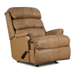 Lane Furniture - Revive Leather Rockerrecliner With Power Recline (Tan) - The Lane Revive 11958 is a genuine Top Grain Leather Rocker Recliner with Power Recline. The pad-over-chaise design combines the footrest and the seat as one upholstered unit for total support. The convenient power recline allows you to recline to a variety of positions with just the touch of a button.Additional features include waterfall back cushions, pillow-top armrests, and plush padding throughout for superior comfort. The back cushions are filled with plush blown-in fiber, and the seat cushion is filled with pocket coil springs with thick soy-based foam padding.