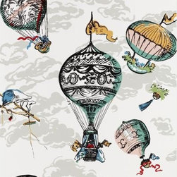 Claridge House Wallpaper - I was instantly hooked on this whimsical balloon wallpaper by Schumacher, and, in fact, I recommended it for a client's powder room.