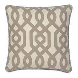 Eastern Accents - Rayland Polyester Decorative Pillow with Cord - Take a break in the sanctuary of your own home. Rayland welcomes you with its harmonious color palette and minimalistic design. Together with a bold geometric pattern, these soft velvets and textured linens create a collection of calm. Features: -Collection: Rayland. -Decorative fabrics on both sides. -Beautiful piecing and trimmings. -High quality polyester fiber pillow insert. -Zipper closure for easy care. -Care Instructions: If soiled or stained, poly comforters and pillows can be spot cleaned with a damp cloth and mild soap. For the cleaning of poly comforters and pillows, we recommend laundering rather than dry cleaning. You may wash poly items in a front-loading, extra-capacity washer (the kind used by professional laundries) using a mild detergent in cold water. Tumble dry in a dryer set on low heat. Remove every hour and fluff. Placing a few tennis balls in the dryer will facilitate the drying. Do not over dry, and remove promptly from dryer to prevent excessive wrinkling.