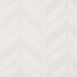 Romosa Wallcoverings - White / Silver Vertical Motif Fern Wallpaper - - Color: White / Silver