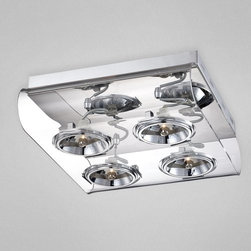 Eurofase Lighting - Eurofase Lighting 24814 4 Light Dual Wall / Ceiling Flushmount Fixture - Create exquisite class with this ceiling fixture. Do something nice for him / her with this refined ceiling fixture featuring halogen bulbs.Features: