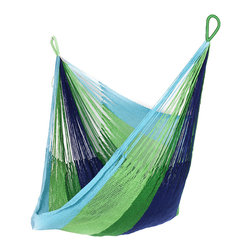 Yellow Leaf Hammocks - 'Lanta' Hanging Chair Hammock - Vibrant and ready for adventure on land or at sea, our 'Lanta' Hanging Chair is 100% handcrafted by artisan weavers for maximum comfort.
