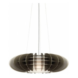 """LBL Lighting - LBL Lighting Chicago Jazz Pendant - The Chicago Jazz Pendant has been designed and made by LBL lighting. This drum is an elliptical grid of annodized aluminum panel and is available in pewter with a satin nickel finish. This pendant can be adjusted to your specifiacations it comes with a 6'of field-cuttable aircraft cable. This fixture requires 1 x 75W E26 Incandescent or 1 x GX24Q-3 base 32 watt triple tube CFL. (not included). cETL LISTED         Product Details: The Chicago Jazz Pendant has been designed and made by LBL lighting. This drum is an elliptical grid of annodized aluminum panel and is available in pewter with a satin nickel finish.  This pendant can be adjusted to your specifiacations it comes with a 6' of field-cuttable aircraft cable.  This fixture requires 1 x 75W E26 Incandescent or 1 x GX24Q-3 base 32 watt triple tube CFL. (not included). cETL LISTED Details:                         Manufacturer:            LBL Lighting                            Designer:            LBL Lighting                            Made in:            USA                            Dimensions:            Height: 6.9"""" (17.5 cm) X Diameter: 24.1"""" (61.2 cm)                            Light bulb:            1 x 75W E26 Incandescent or 1 x GX24Q-3 base 32 watt triple tube CFL. (not included)                            Material:            Metal"""