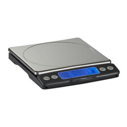 OXO® Food Scale with Pullout Display - Modern technology steps in for precise ingredient measurements and portion control. Display pulls away from the base unit for easy reading beneath large dishes or containers (see additional photos). Easy-read imperial or metric measurement read-out features an optional backlight. Easy settings take into account containers and allow you to add ingredients. Steel platform is removable for easy cleaning.