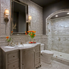 eclectic bathroom by Martin King Photography