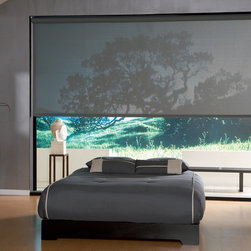 Roller Clutch Shade in a Bedroom - Hunter Douglas Roller Clutch Blinds featured in a bedroom