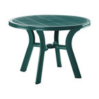 Siesta - Truva Resin Round Dining Table 42 Inch (set Of 1) - *Made from commercial grade resin with non-skid adjustable height rubber caps.