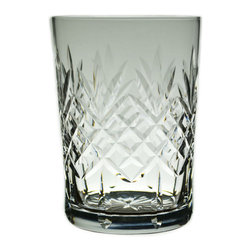 Lavish Shoestring - Consigned 4 Whisky or Cocktail Lowball Cut Glasses, Vintage English - This is a vintage one-of-a-kind item.