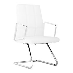 """Zuo - Zuo Controller White Leatherette Conference Chair - Zuo Controller White Leatherette Conference Chair. White conference chair. Chromed steel frame. White leatherette upholstery. Comfortable design. From the Controller collection. Assembly required. 37 1/2"""" high. 22 3/4"""" deep. 21 3/4"""" wide.   White conference chair.  Chromed steel frame.  White leatherette upholstery.  Comfortable design.  From the Controller collection.  Assembly required.  37 1/2"""" high.  22 3/4"""" deep.  21 3/4"""" wide."""